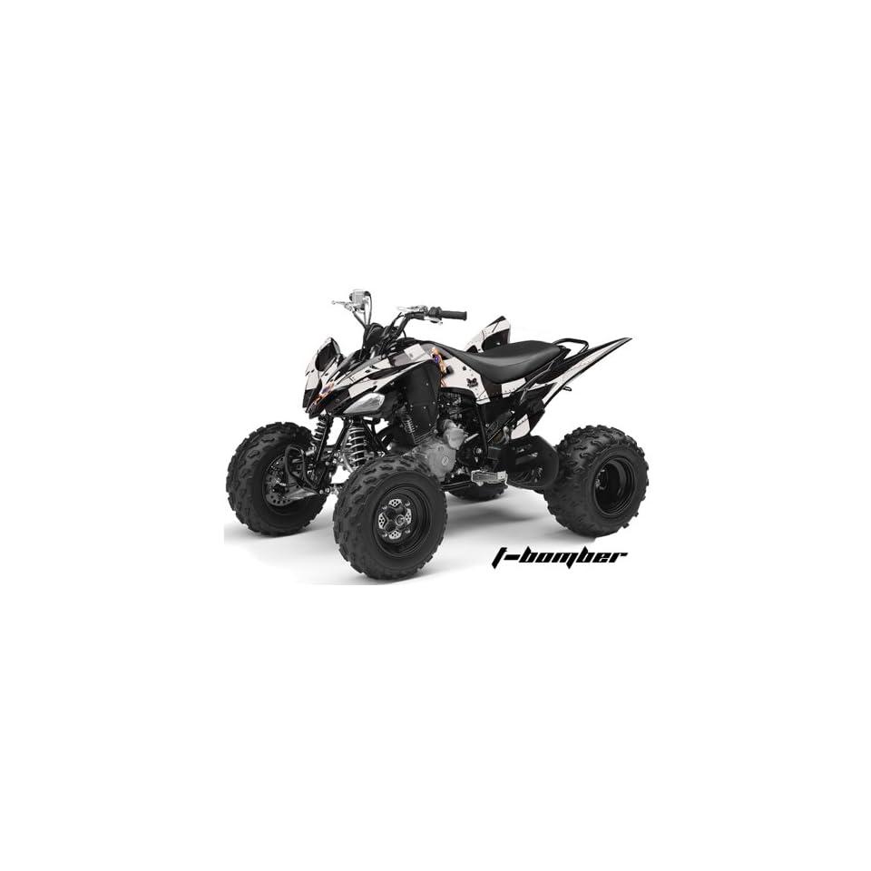 AMR Racing Yamaha Raptor 250 ATV Quad Graphic Kit   T Bomber Black