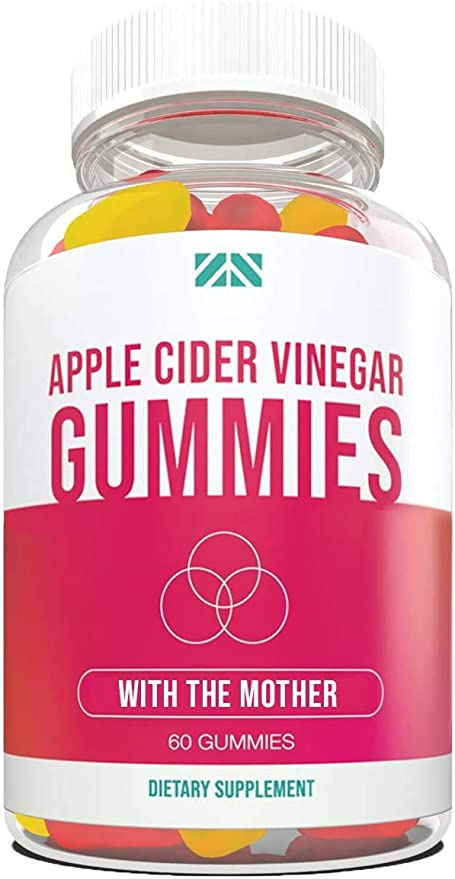 Amazon.com: Apple Cider Vinegar Gummies - with The Mother | Detox | Cleanse | Weight Loss | Better Digestion | Heart Health | Aid Blood Pressure - Delicious ACV Gummies - 60 Count: Health & Personal Care