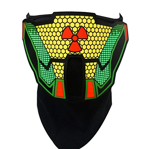 LED Music Mask, Sound Reactive Mask to The Music at Festivals & Parties (Butterfly)