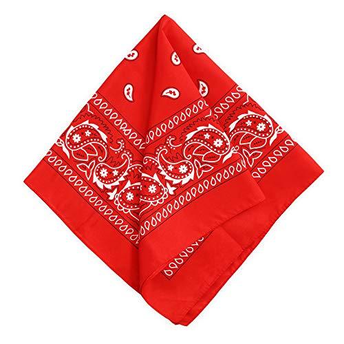 Bandanas for Men & Women - Paisley Bandana - Wear it as a Headband, Head Wrap, Scarf, Cowboy Neckerchief Costume, Novelty Handkerchief, Wristband, Sports & Fashion - 100% Polyester - Large 21 x 21 -