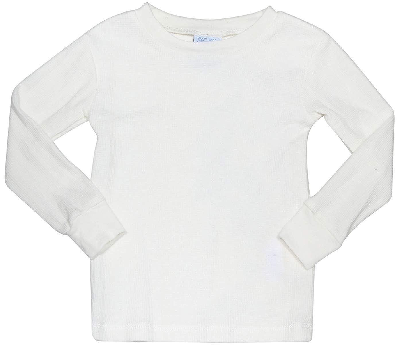 2 Full Sets Mon Petit Infant /& Toddler Boys 4-Piece Thermal Long Underwear Set