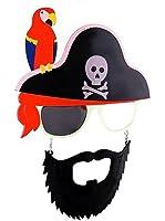 Pirate Halloween Costume Party Mustache Sunglasses Sun-Stache