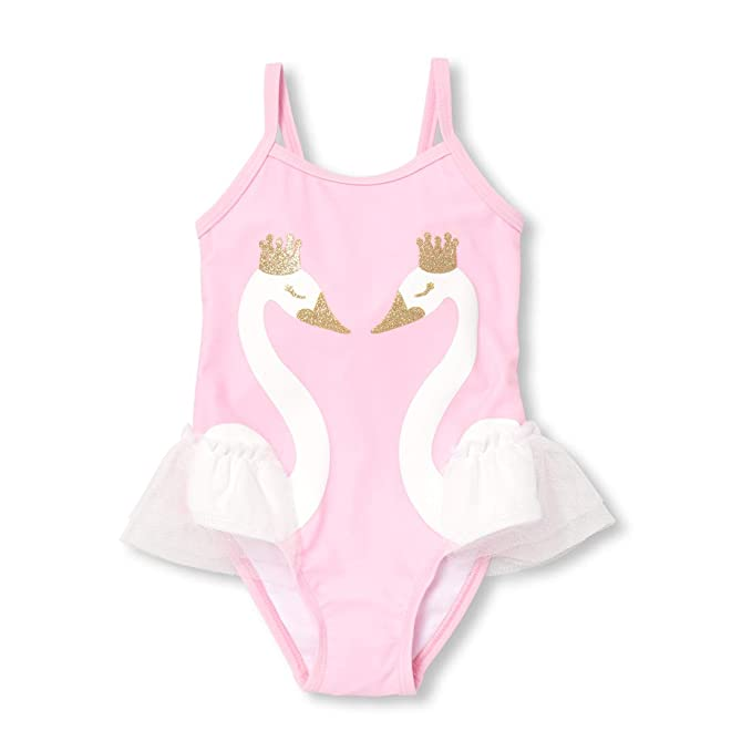 558c22b6711 The Children's Place Baby Girls Novelty Printed One Piece Swimsuit,  Charisma, ...