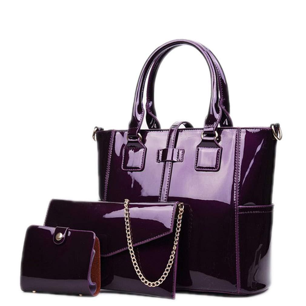 Leather Women Composite 3 Sets Shoulder Ladies Messenger Bag And Cards Wallet Tote