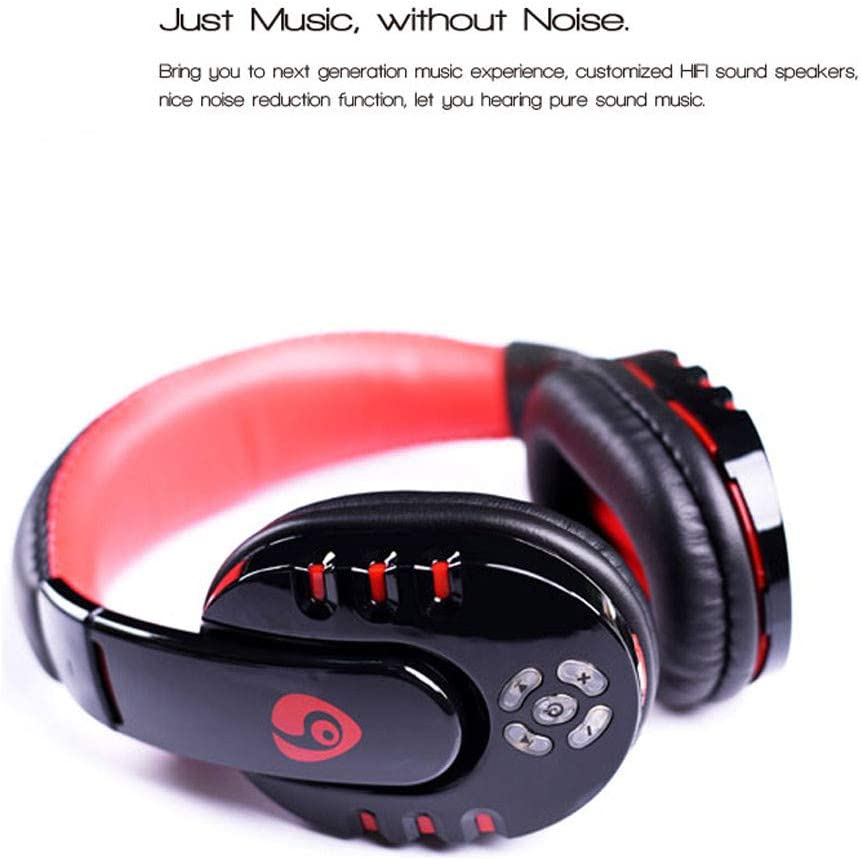 Livoty OVLENG V8 Gaming Headphones Bluetooth HD Stereo Noise Cancelling Earphones with Mic and Soft Earmuffs with Microphone for PC//Phone//PUBG