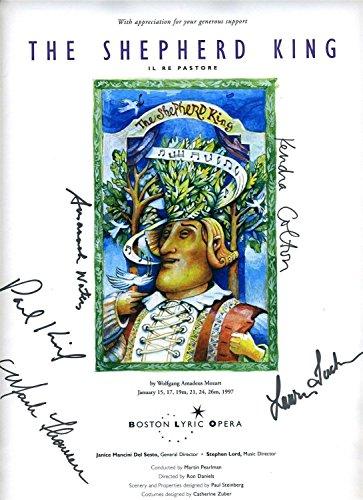 Boston Lyric Opera Poster The Shepherd King Signed By Cast