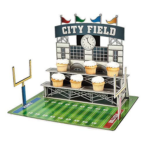 Fun Express - Large Football Stadium Cupcake Holder - Party Supplies - Serveware & Barware - Misc Serveware & Barware - 1 Piece