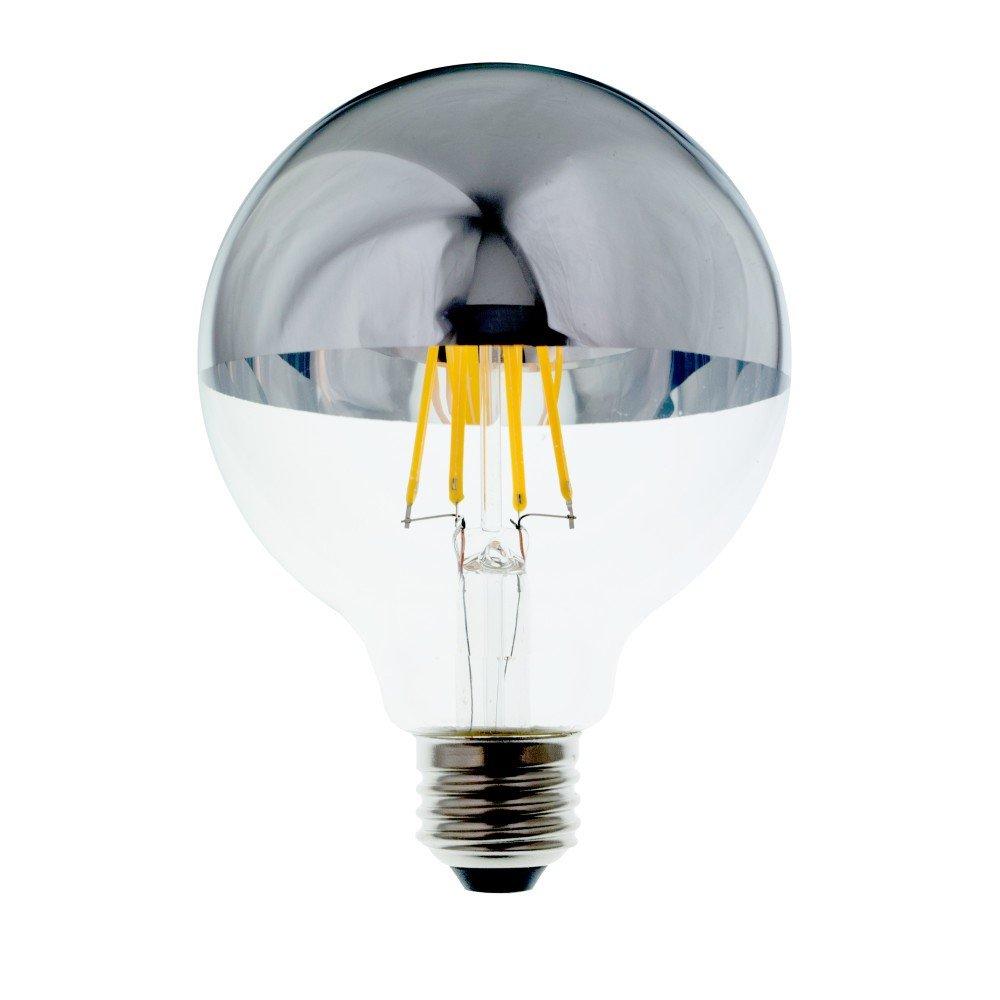 Lighting Science 60 W Equivalent G40 Mirror Filament Soft White LED Light Bulb Vintage Style LED Light Bulb Industrial Look LED Light Bulb