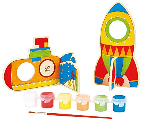 Hape Paint it Yourself Space Voyage Wooden Kid