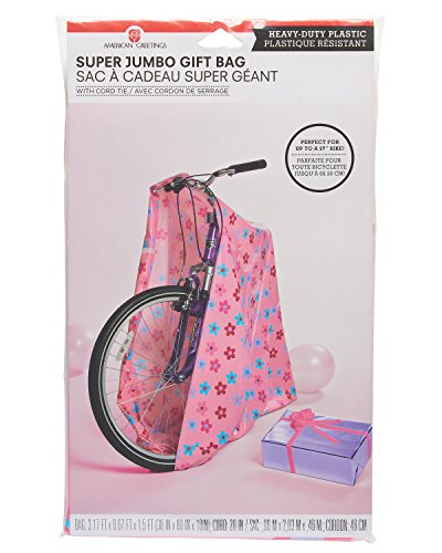 American Greetings Plastic Gift Bag, Pink (Gift Extra Large)