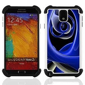 For Samsung Galaxy Note3 N9000 N9008V N9009 - Abstract Blue H????brido Protecci????n completa dual de alto impacto Capa Funda - God Garden -