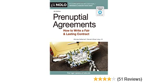 Prenuptial Agreements How To Write A Fair Lasting Contract 4th