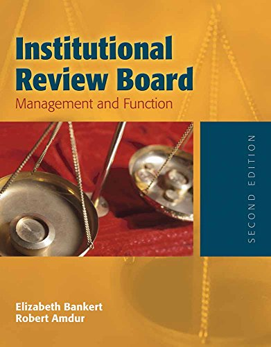 Management Board - Institutional Review Board: Management and Function