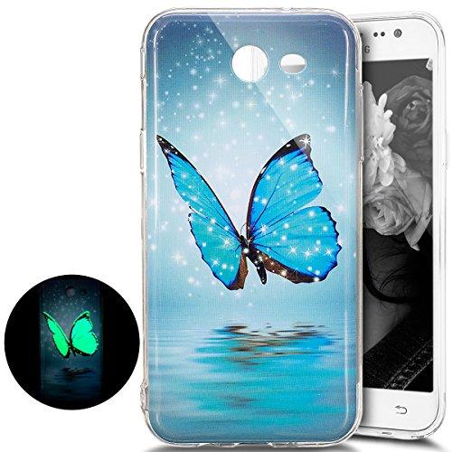 Best Review Of PHEZEN Galaxy J7 V Case, Galaxy J7 Perx Case,J7 2017 Case, Luminous Noctilucent Blue ...