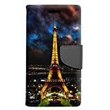 Samsung Galaxy J7 Prime Wallet Case - Night Time Paris Eiffel Tower Case