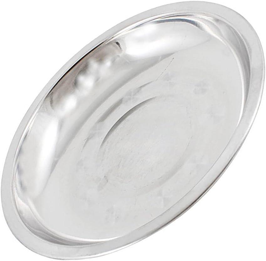 24/cm 28/cm 16/cm 22/cm 16 cm 20/cm silber Teller flach Mess Tabletts ideal f/ür Camping 18/cm Edelstahl Speiseteller 26/cm