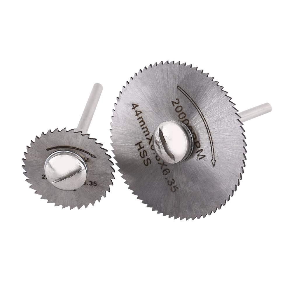 aluminio hierro aleaci/ón madera Hoja de sierra circular pl/ástico Mini HSS Disco de corte de madera con rueda de corte de sierra con 2 barras para cobre