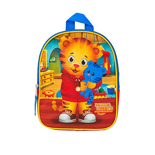 (The Fred Rogers Company Boys' Daniel Tiger 10 Inch Mini Backpack Children's, Red, One Size)