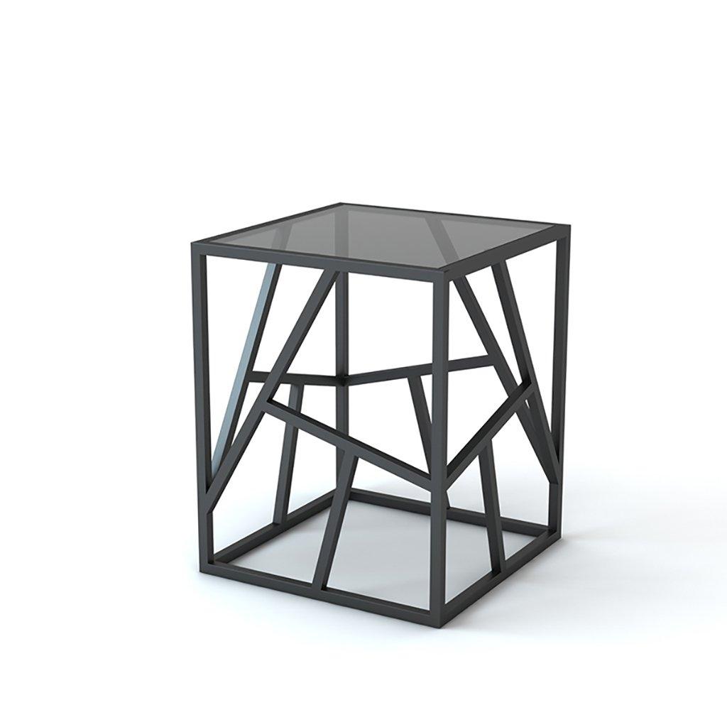 リビングルーム錬鉄製のガラスのソファーコーナーいくつかの創造的なベッドルームサイドテーブルコーヒーテーブルシンプルなベッドサイドテーブル (色 : B, サイズ さいず : 40*50*50cm) B07F86RXKJ 40*50*50cm|B B 40*50*50cm