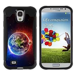 "Pulsar iFace Series Tpu silicona Carcasa Funda Case para Samsung Galaxy S4 IV I9500 , Tierra Luna Fuego Agua Universo Planet Ver"""