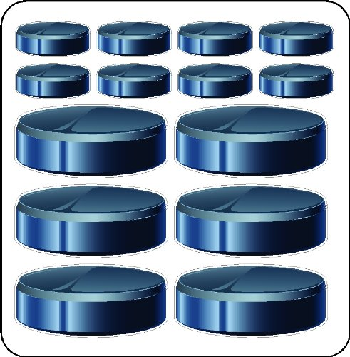 (Peel And Stick Hockey Pucks Stickers Decals Removable And Repositionable Hockey Stickers)