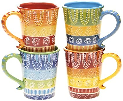 a10d58def50 Image Unavailable. Image not available for. Color: Certified International  Tapas Mug, 18-Ounce, Assorted Designs ...