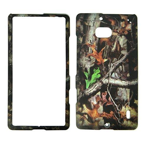 2D Camo Trunk V Nokia Lumia Icon 929 Verizon Case Cover Hard Phone Case Snap-on Cover Rubberized Touch (Nokia Icon Verizon)