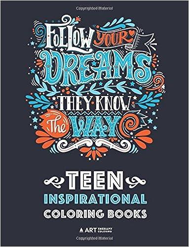 Amazon Com Teen Inspirational Coloring Books Positive Inspiration