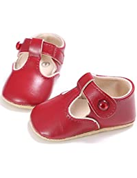 Baby Toddler Girl Leather Soft Sole Crib Shoes Christening Prewalker