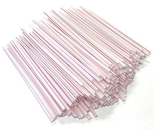 White w/ Red Stripe Unwrapped Jumbo Drinking Straws Disposable (Bulk 2500 Pieces) BPA Free (Red Straws Unwrapped Stripe)