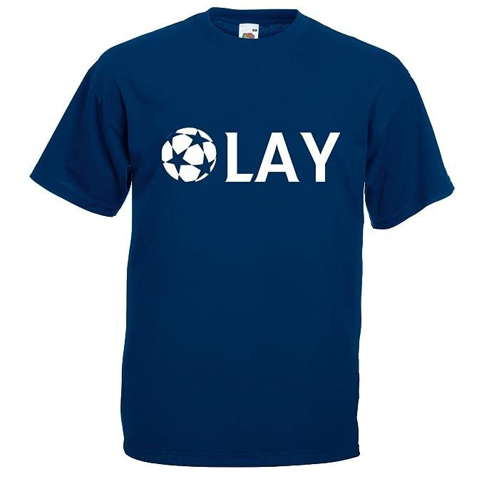 Para hombre Olay Champions League Camiseta de fútbol: Amazon.es: Ropa y accesorios