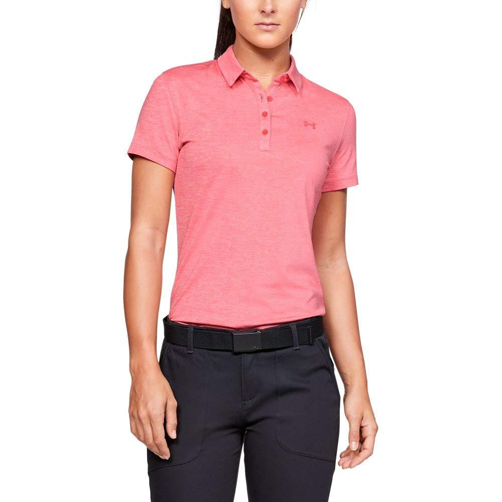 Under Armour Womens Zinger Short Sleeve Golf Polo, Perfection (853)/Perfection, Small by Under Armour