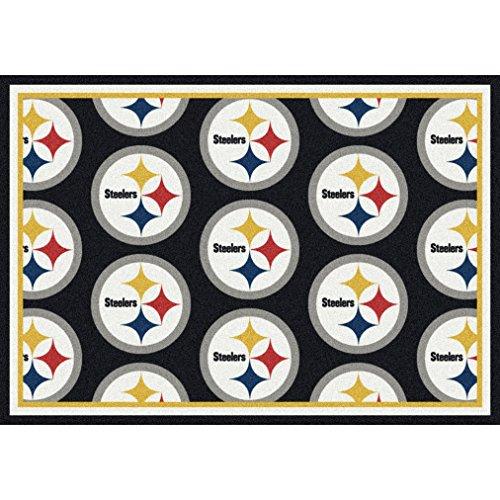 Pittsburgh Steelers NFL Team Repeat Area Rug by Milliken, 5'4