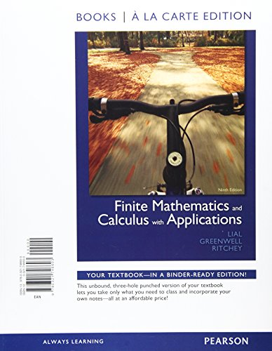Finite Mathematics and Calculus with Applications, Books a la Carte Plus MML/MSL Student Access Code Card (for ad hoc va