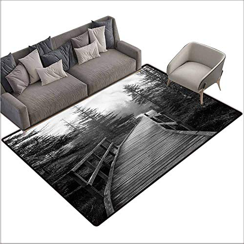 Floor mats for Kids Landscape,Pathway into Wilderness 48