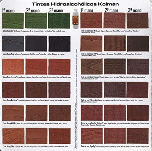 Tinte para Madera Hidroalcohólico Hidrokolman. Tintes madera (1 litro, Avellana)