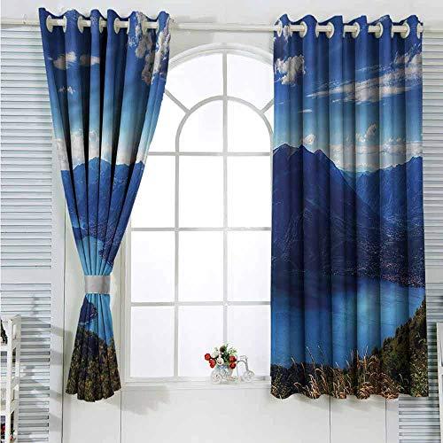 Customized Curtains Nature,Lake Como Paradise Landscape Living Restaurant Curtain 2 Panel W55 x L72 inches (Best Restaurants Lake Como)