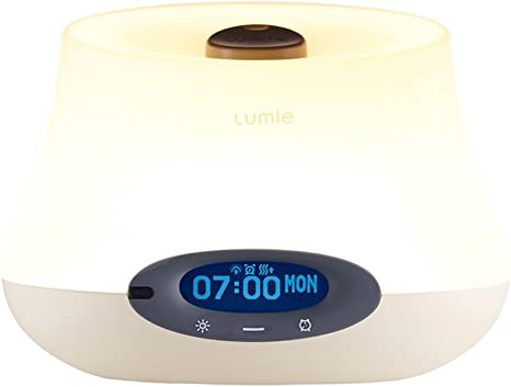 YOUXIU Wake Up Light Alarm Clock Sunrise//Sunset Simulation with 6 Natural Sounds and Touch Control Function humidified Aromatherapy LED Table Bedside Lamp with 8 LED Light