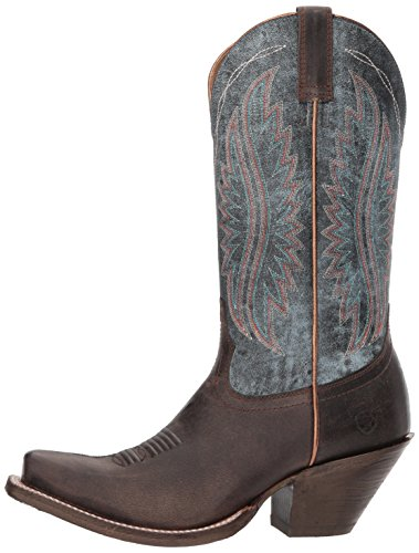 Ariat Women's Circuit Salem Western Boot, Buckaroo Brown/Denim Blue, 7.5 B US