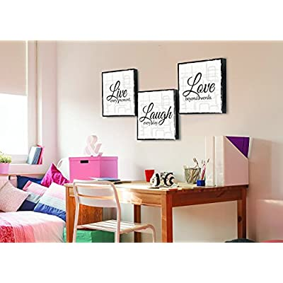 Live Laugh Love - 3 Piece Canvas Print - Wall Art Art (12
