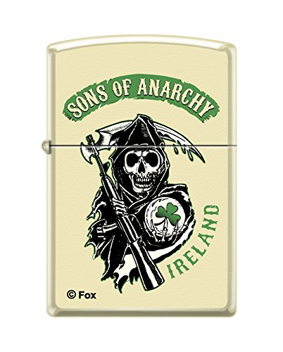 Ireland Crystal - Zippo Sons of Anarchy Ireland Cream Matte Pocket Lighter
