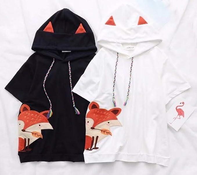 2e04387de Amazon.com  CRB Fashion Cosplay Anime Fox Emo Girls Sweater Hoodie ...