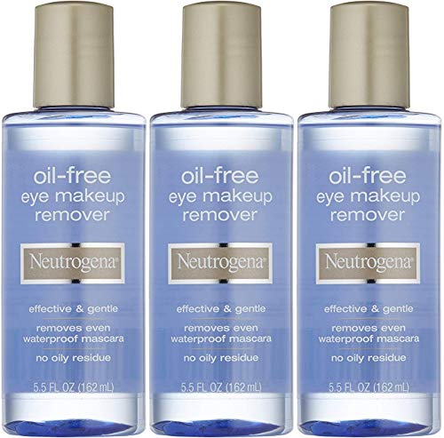 Neutrogena Cleansing Oil-Free Eye Makeup Remover, 5.5 Fluid Ounce Pack of 3