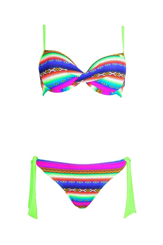 Bikini Acapulco 2-teilig mit Balconette-Oberteil für Cup C, Neon-Grün