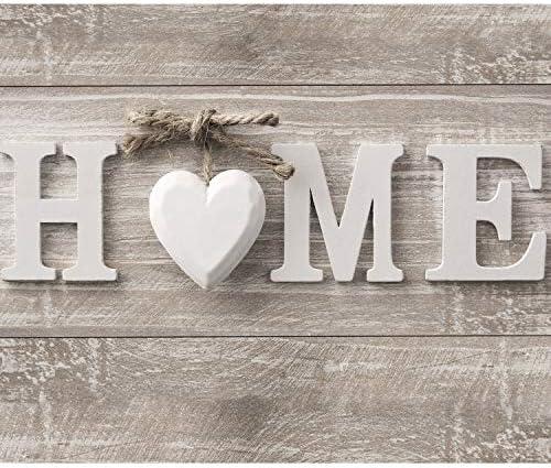 decomonkey Fototapete selbstklebend Home Haus 245x175 cm XL Selbstklebende Tapeten Wand Fototapeten Tapete Wandtapete klebend Klebefolie Holz Herz Vintage
