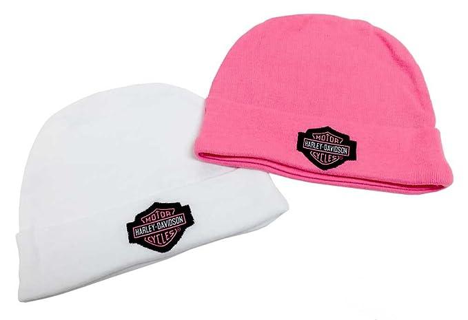 Amazon.com  Harley-Davidson Baby Girls  Embroidered B S Hats 9c66e1db0be
