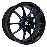 honda accord 2005 rims - Konig 24B Illusion 18x8 5x114.3 +45mm Black/Blue Wheel Rim