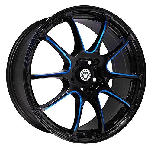 Konig Illusion Black Ball Cut Blue Wheel - Tuner Eclipse Mitsubishi