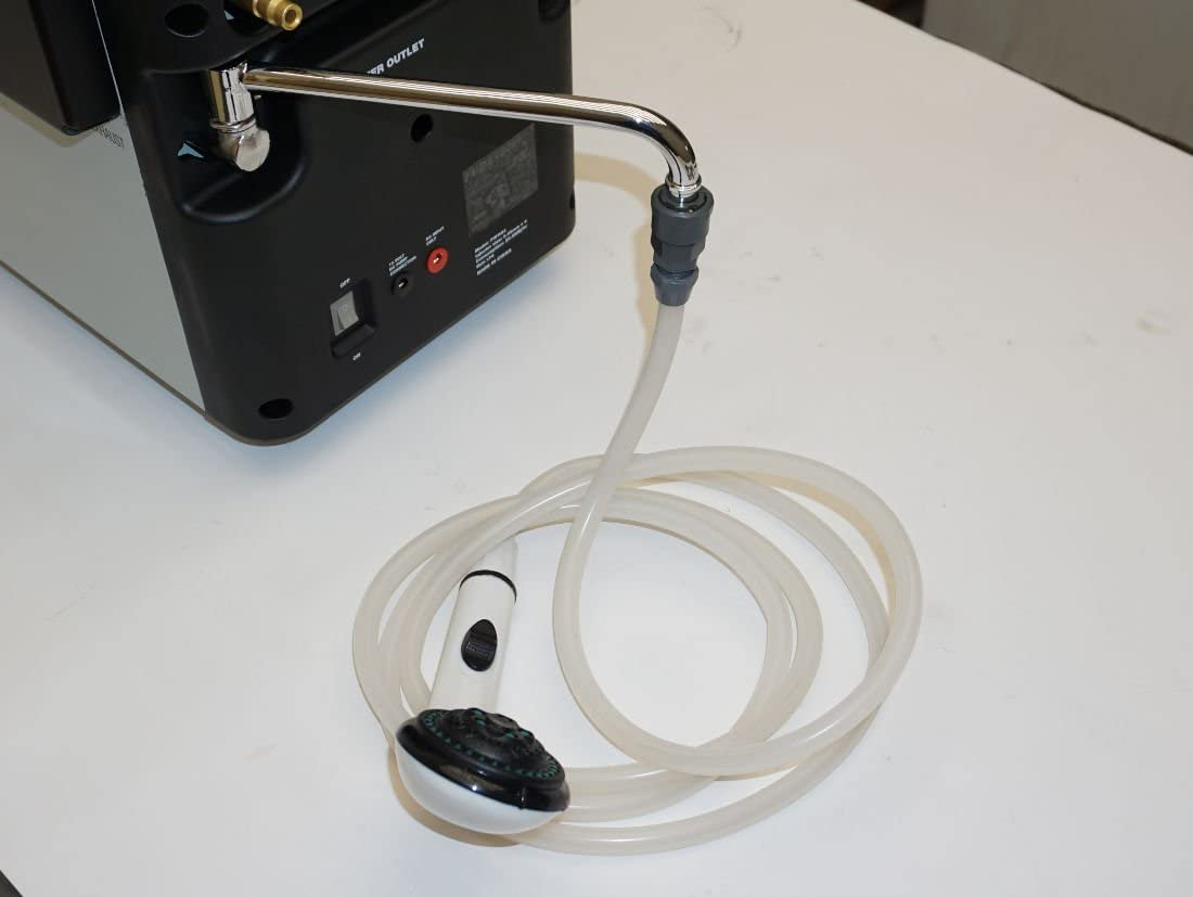Calentador de agua de camping Prime Tech, calentador de agua a gas