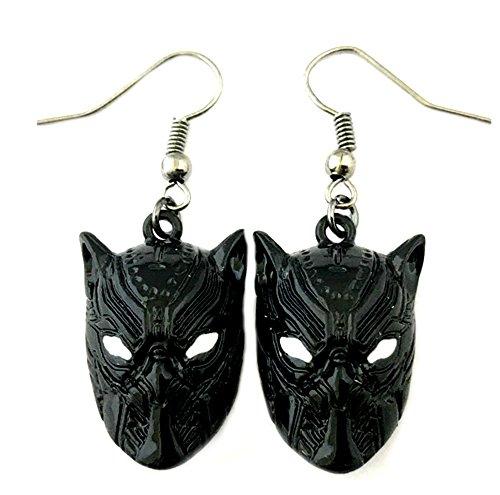 Black Panther Dangle Earrings Wakanda Marvel Comics 2018 New Movies Cartoon Superhero Logo Theme Chadwick Boseman Premium Quality Detailed Cosplay Jewelry Gift Series